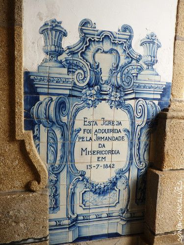"""""""St. Anthony's Sermon to the Fish"""" century tile panel. XVIII. - """"Sermão de Santo António aos peixes"""", painel de azulejos do séc. XVIII."""
