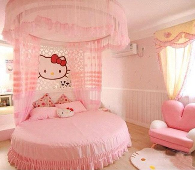 Bedroom Designs Hello Kitty 33 best home decor {hello kitty bedroom} images on pinterest