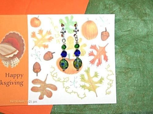 THANKSGIVING CARD  and Earring Gift Set by SouthamptonCreations, $4.00