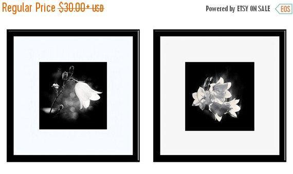SALE 20% OFF Black and White Photos, Fine Art Photography, 2 Print Set, Dandelions