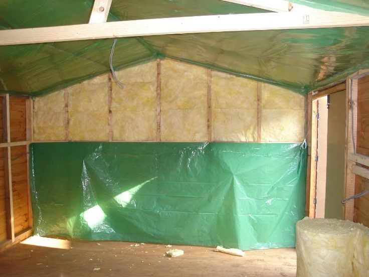 Insulating a shed