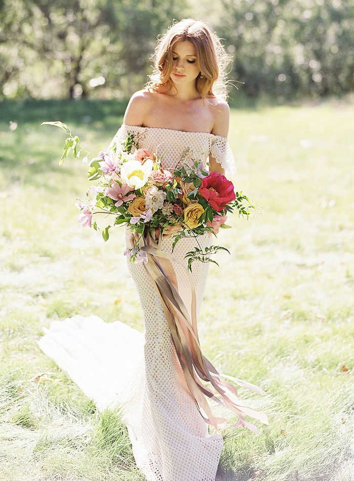 California Sunshine for a Boho Chic Ranch Wedding    #wedding #weddingideas #californiawedding #filmphotography #filmweddingphotography #bohobride #bohemianwedding #weddingdress #bride