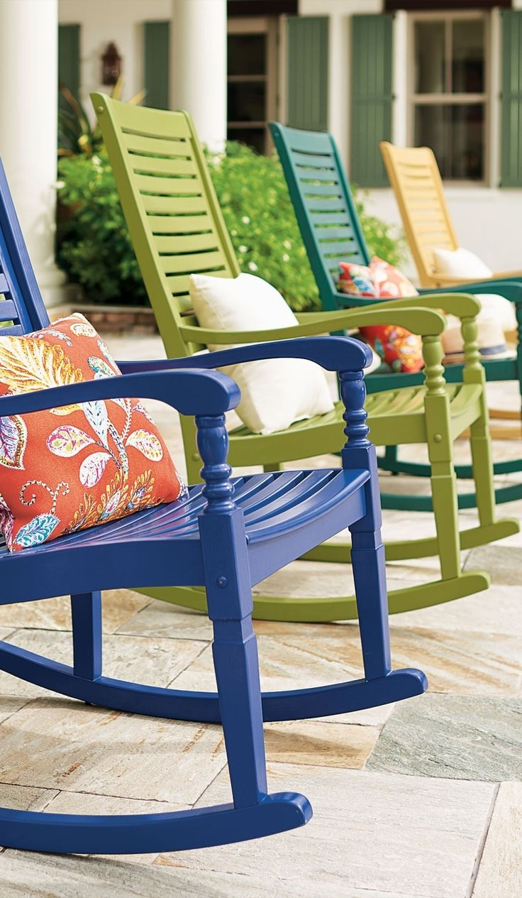 settle into the generous proportions and comfortable contours of the nantucket outdoor rocking chair we