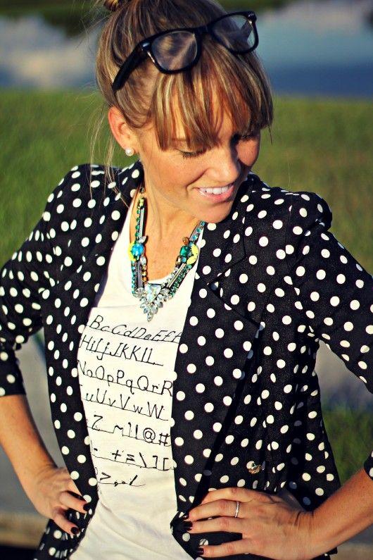 @Marshalls #projectfab polka dot blazer