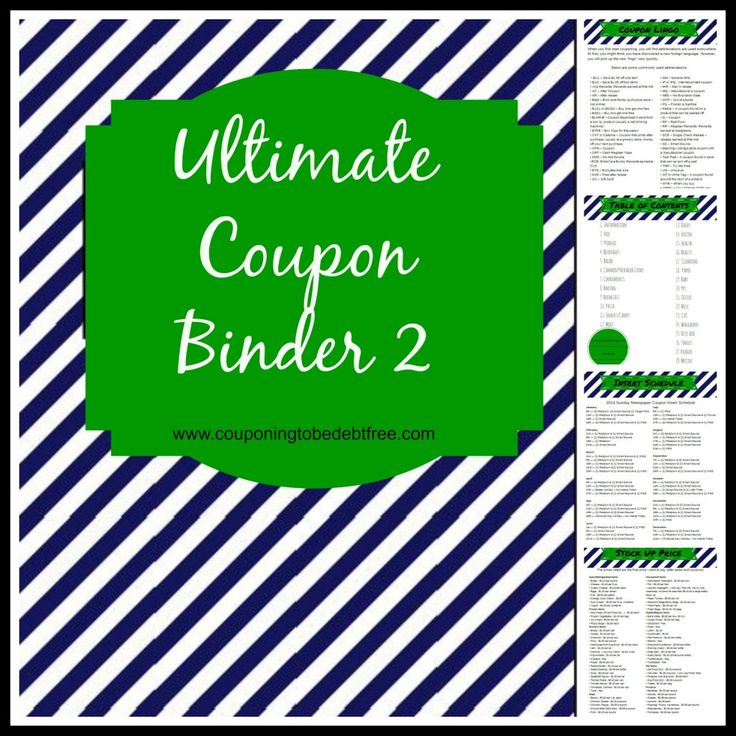Need a coupon binder? Check out this Ultimate Coupon Binder! #coupon #binder #printable #free www.couponingtobedebtfree.com