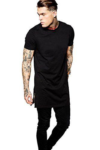 78cadbdad1 Valley Railway Men's Black Long Hipster Hip-hop Street T-shirt #mens  #fashion #tshirts #tops #apparel #hiphop