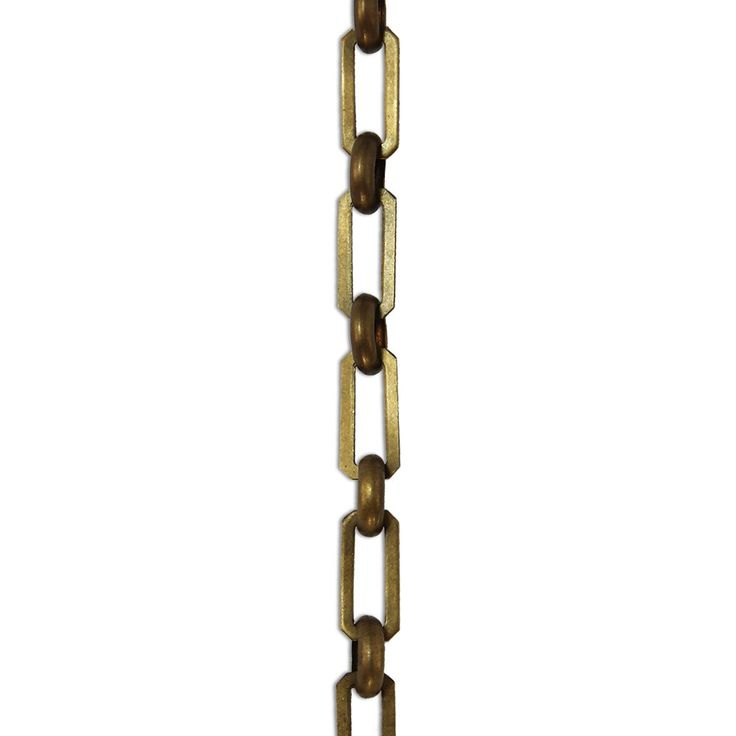 Rch Hardware Decorative Antique Solid Brass Chain For Hanging Lighting Rectangular Cut Edge And Unwelded Links Foot
