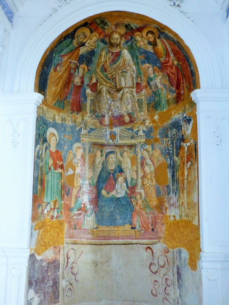 One of the gorgeous frescoes inside San Domenico