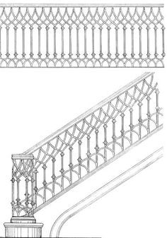 Iron Stair Design Sketches Regency Google Search