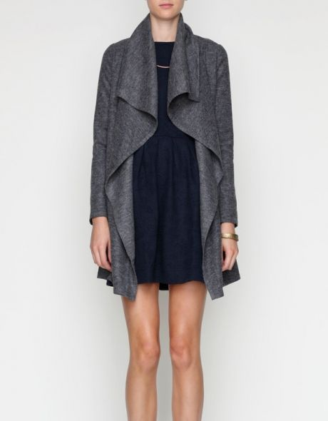 ++ draped wool jacket