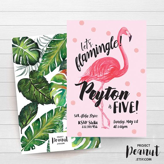 Flamingo Birthday - Beach Party - Summer BBQ - Palm Tree - Lets Flamingle - Flamingo Invite - Girl 5th Birthday - Adult Party - Invitation Invite your guests to flamingle at your girls birthday party in style with this fun and vibrant Flamingo invitation!  PLEASE NOTE:  + You are purchasing a digital file only.  + NO PRINTED MATERIALS ARE INCLUDED!  + There are NO REFUNDS as this is a digital product.  + A reminder that this is a DIGITAL PRODUCT.  WHAT DO YOU GET? 4x6 inch digital printable…