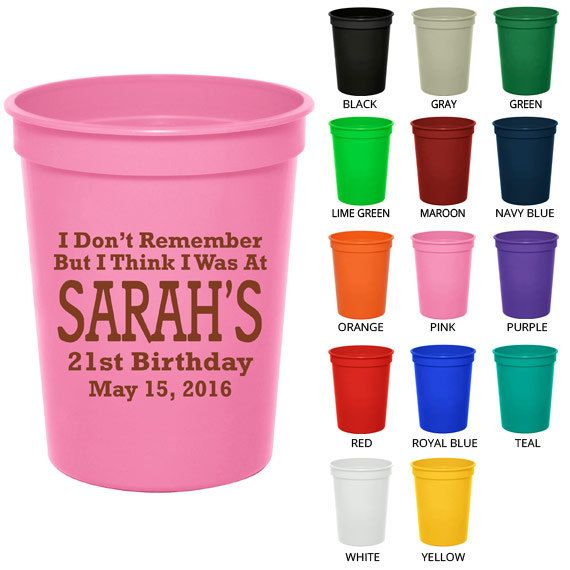 16 oz Party Favor Cups (Clipart 19119) Too Drunk Remember My 21st - Birthday  sc 1 st  Pinterest & 75 best 21st images on Pinterest | Birthdays Ideas para fiestas and ...