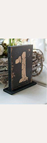 Rustic Self-Standing Table Number And Holders Style 9561