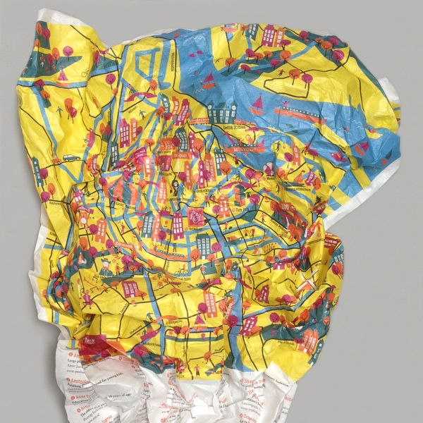 Crumpled City Junior Amsterdam Map