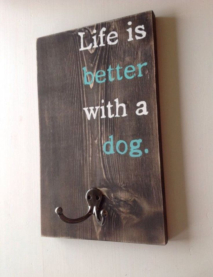 Dog leash holder - Custom leash holder - Pet supply storage by ClearbrookCrafts on Etsy https://www.etsy.com/listing/224625919/dog-leash-holder-custom-leash-holder-pet