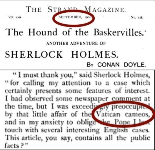 """Vatican cameos appears in The Hound of the Baskervilles in 1901. It is not a WWII code unless Hound of the Baskervilles were what the troops were referring to. Otherwise, it's straight up Conan Doyle."""