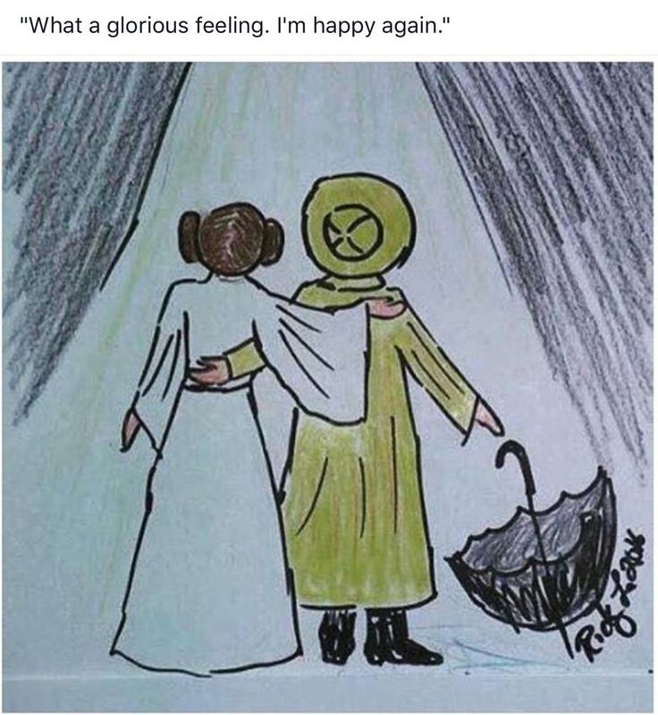 """""""What a glorious feeling. I'm happy again."""" Fan art after Carrie Fisher and Debbie Reynolds death"""