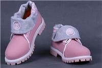 Timberland roll top boots womens Pink Grey