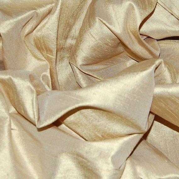 CHAMPAGNE and PORCELAIN Blue silk curtain, dupioni silk, window treatment, cream, ivory, blue, pastel, beige