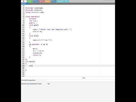 Add Two Complex Mumber Using Operator Overloading In C++ : Computer Aide...