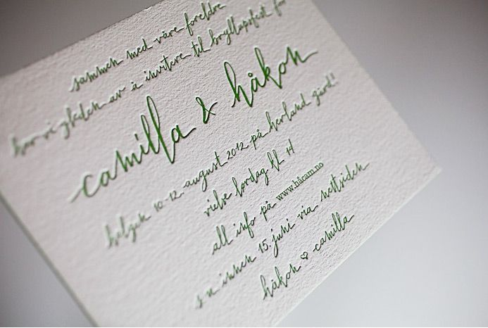 the left handed calligrapher | mitty invite.