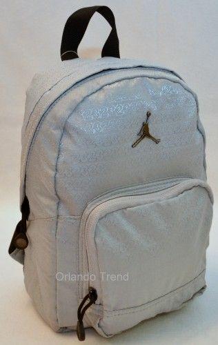 Nike Air Jordan Backpack Toddler Preschool Boy Gray Small Mini 23 Bag School