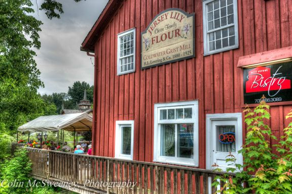 Bistro in the village of Coldwater, Ontario