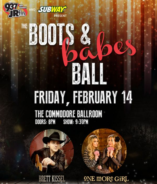 93.7 JRFM and Subway presents THE BOOTS AND BABES BALL