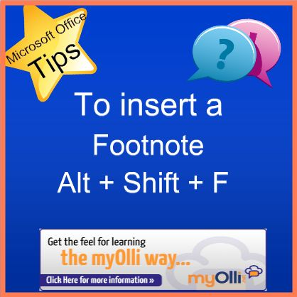 how to make a footnote word