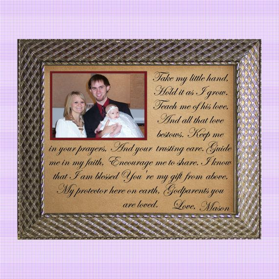 Gift for Godparent / Take My Hand / Gift by SpeciallyEngraved
