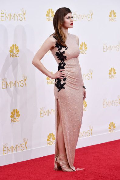 Alexandra Daddario Photos - Actress Alexandra Daddario attends the 66th Annual Primetime Emmy Awards held at Nokia Theatre L.A. Live on August 25, 2014 in Los Angeles, California. - Arrivals at the 66th Annual Primetime Emmy Awards — Part 2
