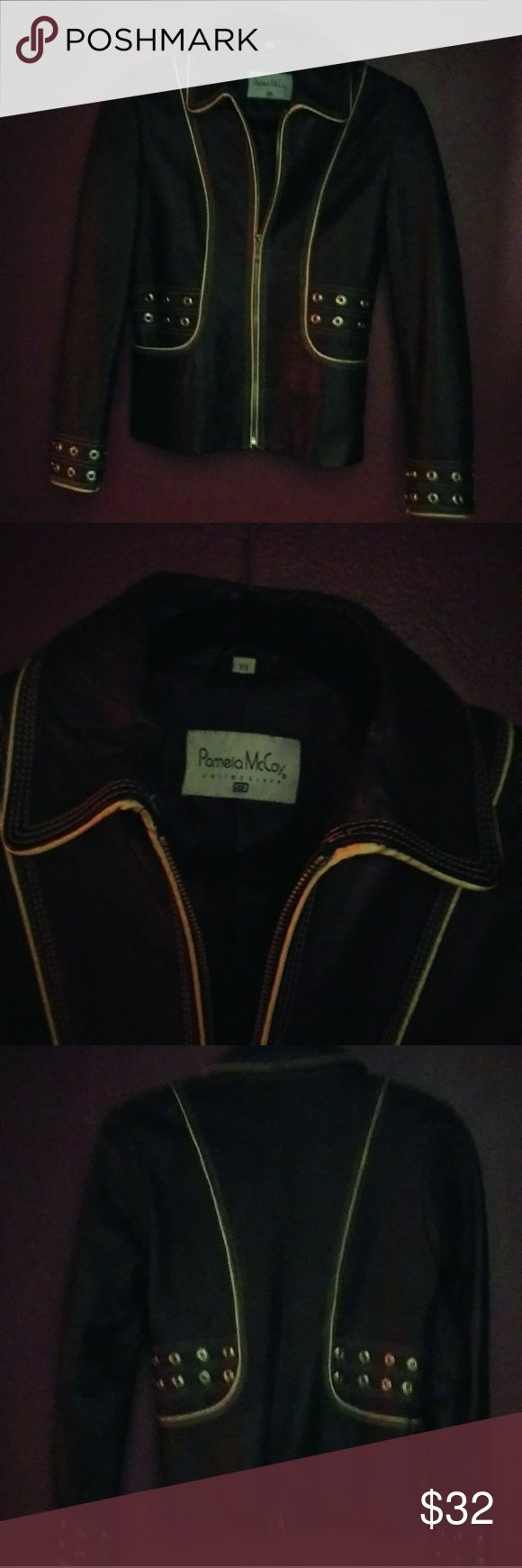 Ladies XS Pamela McCoy Black Leather Jacket This is a wonderful jacket which is edgy yet chic. It will make you look good AND keep you warm. Pamela McCoy Jackets & Coats Blazers