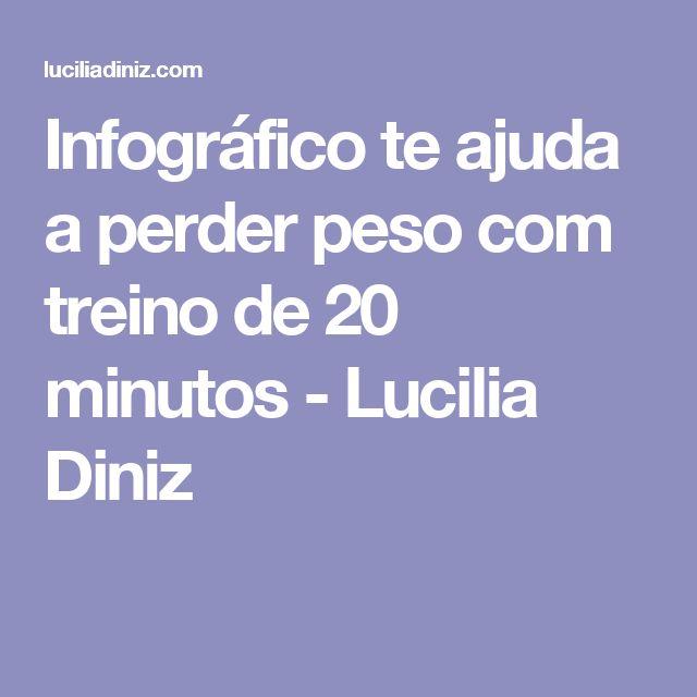 Infográfico te ajuda a perder peso com treino de 20 minutos - Lucilia Diniz