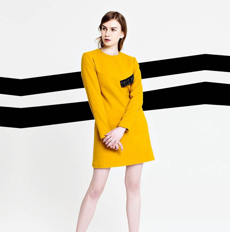 The Place to Dress - By Sun - Robe en laine jaune