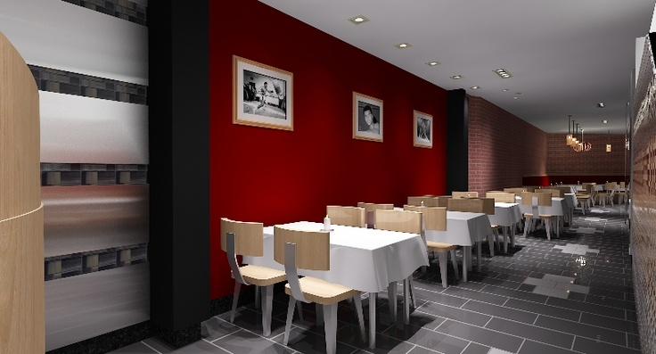3D Rendered sample of Restaurant