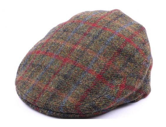 Casquette Plate Hereford Tweed Vert, bleu taille 58 #casquette