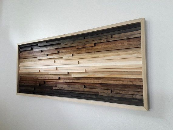 Wood Wall Art, Abstract Landscape, Painting on Wood, Rustic Wall Decor, Modern Rustic Art, Wooden Wall Decor, 3d Wall Art, Ombre Art