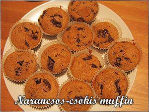 Narancsos-csokis muffin