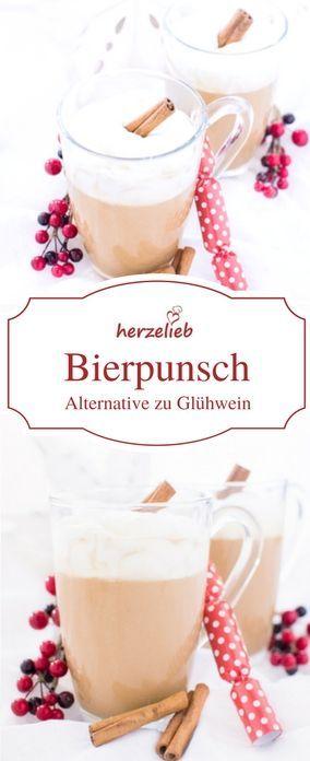 Getränke Rezepte: Bierpunsch ist eine tolle Alternative zu Glühwein. #bier #punsch #rezept #herzelieb