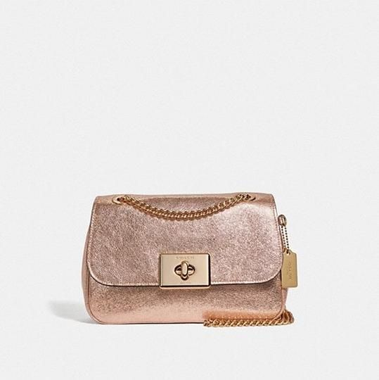 a8b13e22482 Coach Cassidy Rose Gold Light Gold Leather Cross Body Bag 18% off retail