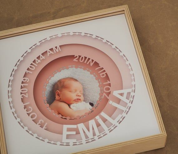 Baby Picture Frame Engraved Frame --PF-WHT-SOPHIA Baby Name Personalized Birth Announcement Picture Frame Baby Stat New Baby New Born