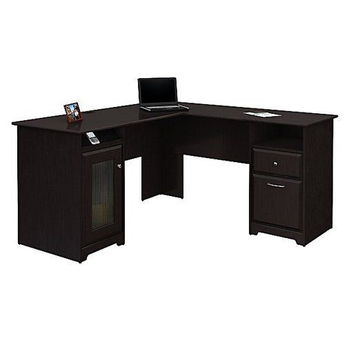 Bush Cabot L-Shaped Desk | from hayneedle.com