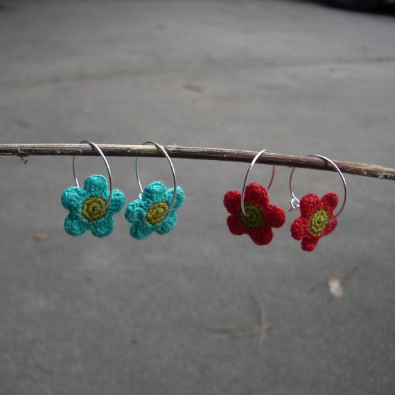 Crocheted flower Earrings