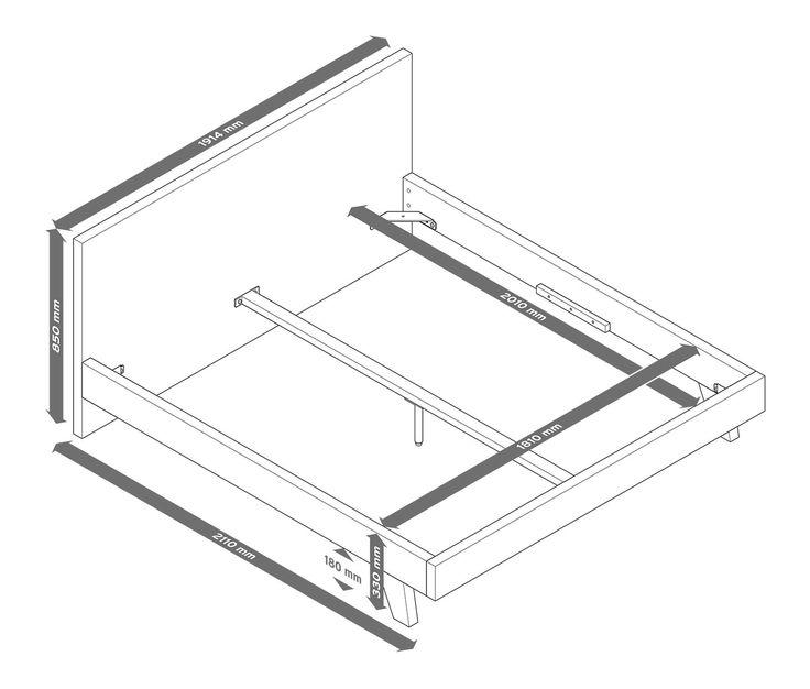 299,00 € Doppelbett mit solider Konstruktion  Schöner schlafen. Seine klare Formgebung verleiht diesem Bett einen modernen Charakter. Das Holzbett-Gestell ist sehr stabil mit solide konstruierten Rahmenteilen und echtholzfurnierten Oberflächen.