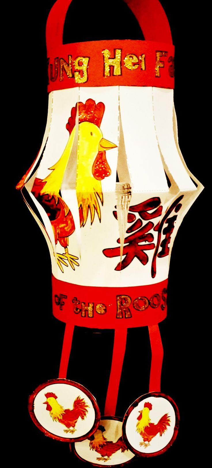 Lunar new year crafts - Chinese New Year 2017 Year Of The Rooster Chinese Lantern Craft