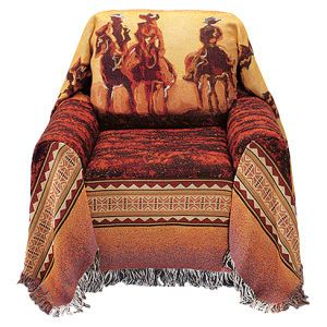 Cowboy roundup sofa cover horse themed gifts clothing Cowboy sofa