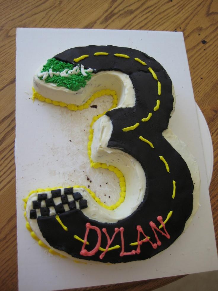 #3 Race car cake (minus the cars) :)
