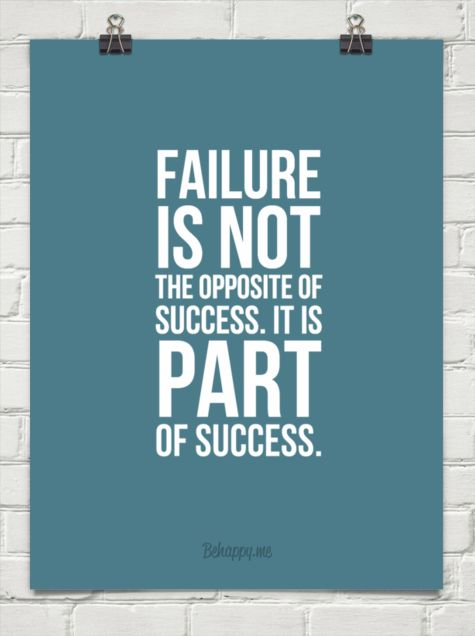 short speech on success and failure Failure is the state or condition of not meeting a desirable or intended objective,  and may be  similarly, the degree of success or failure in a situation may be  differently  investments, and/or widespread publicity, but fell far short of success.