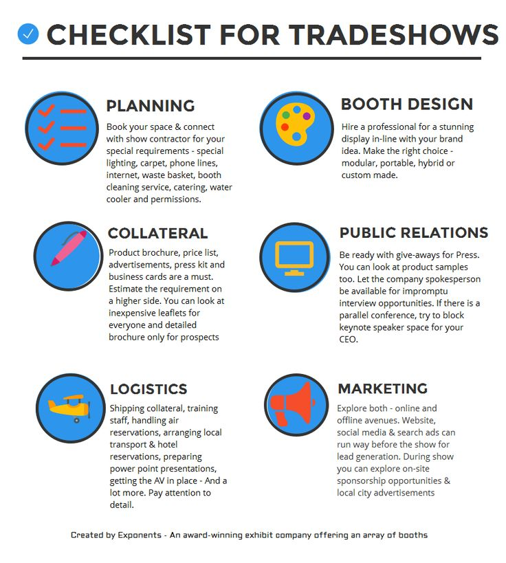 Exhibition Booth Checklist : Best trade show checklist images on pinterest