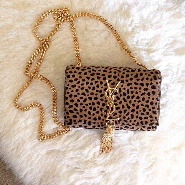 YSL leopard print chain purse | Purses|Bags|Clutch | Pinterest ...